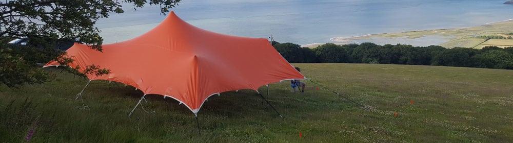 corporate festival tent devon orange