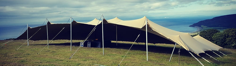 mainstage festival stretch tent on exmoor