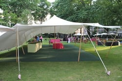 Stretch tents used at corporate events