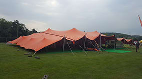 festival tent orange stretch tent henley