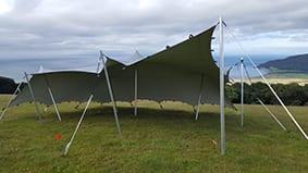 festival tent silver stretch tent devon