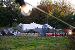 Fulham palace gardens event stretch tent