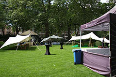 hyatt regency portman square gardens white stretch tent
