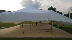 The large tent ensures room for everyone