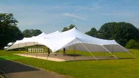 The way the tents are rigged means that stretch tents can be set up almost anywhere