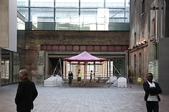 pink stretch tent kings cross ballast
