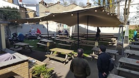 pub beer garden crystal palace chino stretch tent