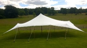 Elegant lines and open sides a stretch tent really bring an event to life
