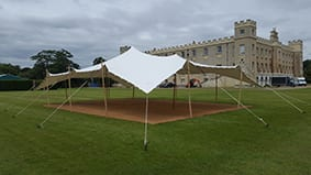 white stretch tent syon house london