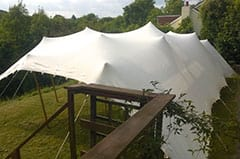 Stretch tents are great used as a gazebo