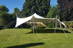 dorset garden party white stretch tent