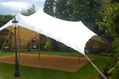Stretch tents are perfect for private parties