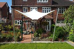 north london white stretch tent garden party birthday