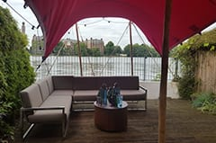 pink tent thames putney moroccan garden party
