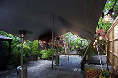 silver stretch tent garden party patio islington