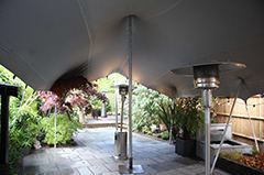 silver stretch tent patio heater birthday london