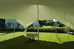 white stretch tent garden party dorset