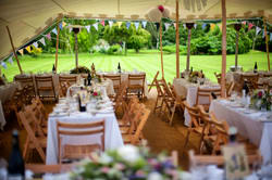A selection of wedding stretch tents