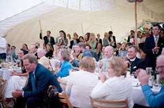 Excellent acoustics in the tent for speeches!