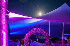 Stretch tents come alive with colour