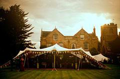 Vintage wedding tent