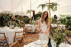 wedding white stretch tent rustic scotland credit nic barlow