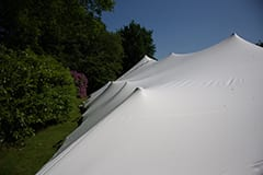 white stretch tent wedding peaks gloustershire
