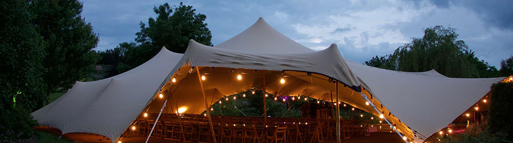 chino stretch tent festoon lights wedding tent oxfordshire