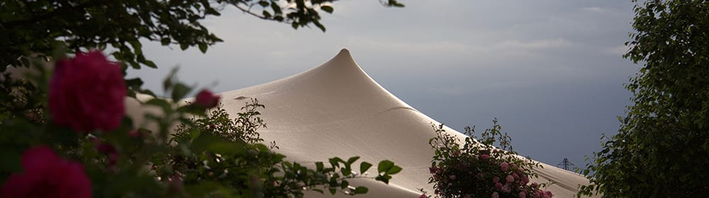 chino stretch tent garden wedding tent peak oxfordshire
