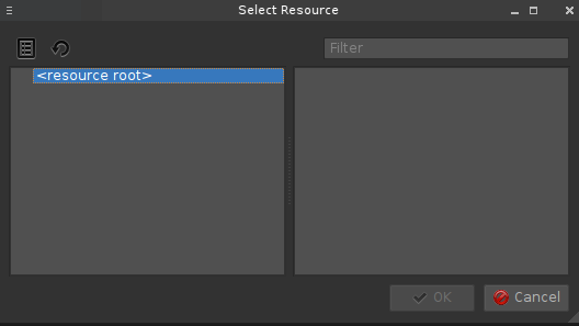 Adding Resource files to your Qt designer project and using pyrcc
