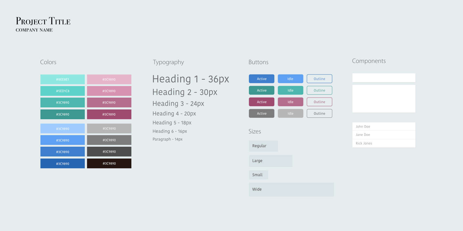 Styleguide template