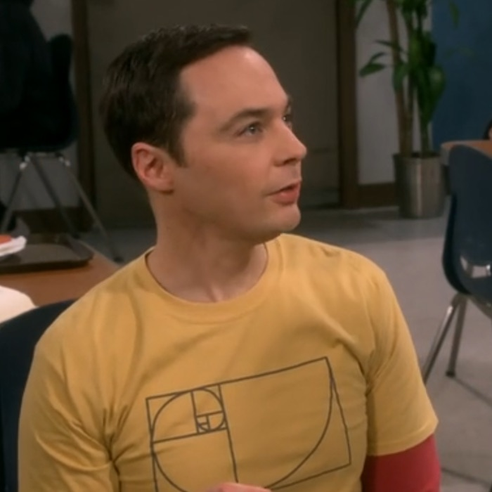 Sheldon Cooper on golden spiral shirt Season 12
