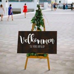 Tekst til bryllupsskilt / wedding sign - klistermærke