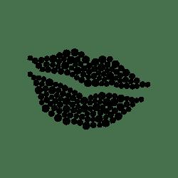 Dotted læber  - strygemærke
