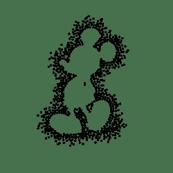 Dotted omrids af mickey - strygemærke
