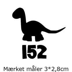 Størrelsesmærke til strækstof - motiv og enkeltstørrelser - 1 ark á 25*20cm