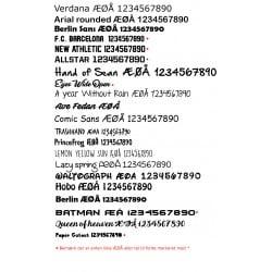 Design dit eget navnemærke - 1 ark á 25*20cm