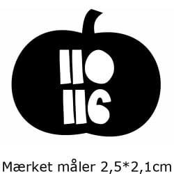 Størrelsesmærker med dobbelt størrelser - 1 ark á 25*20cm