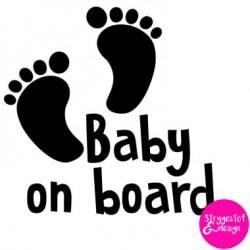 Baby on board / børn i bilen - klistermærke