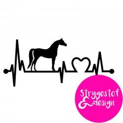 Heartbeat stickers - klistermærke