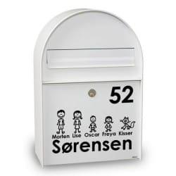 Postkasse stickers - tændstiksfigurer