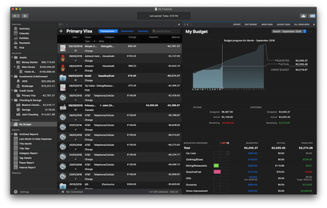 Banktivity 7 Screenshot