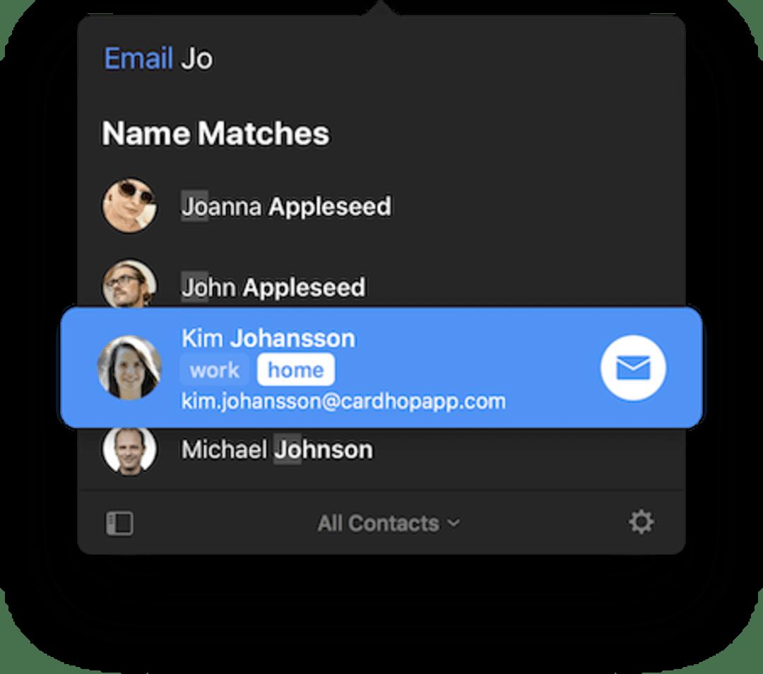 Cardhop Screenshot