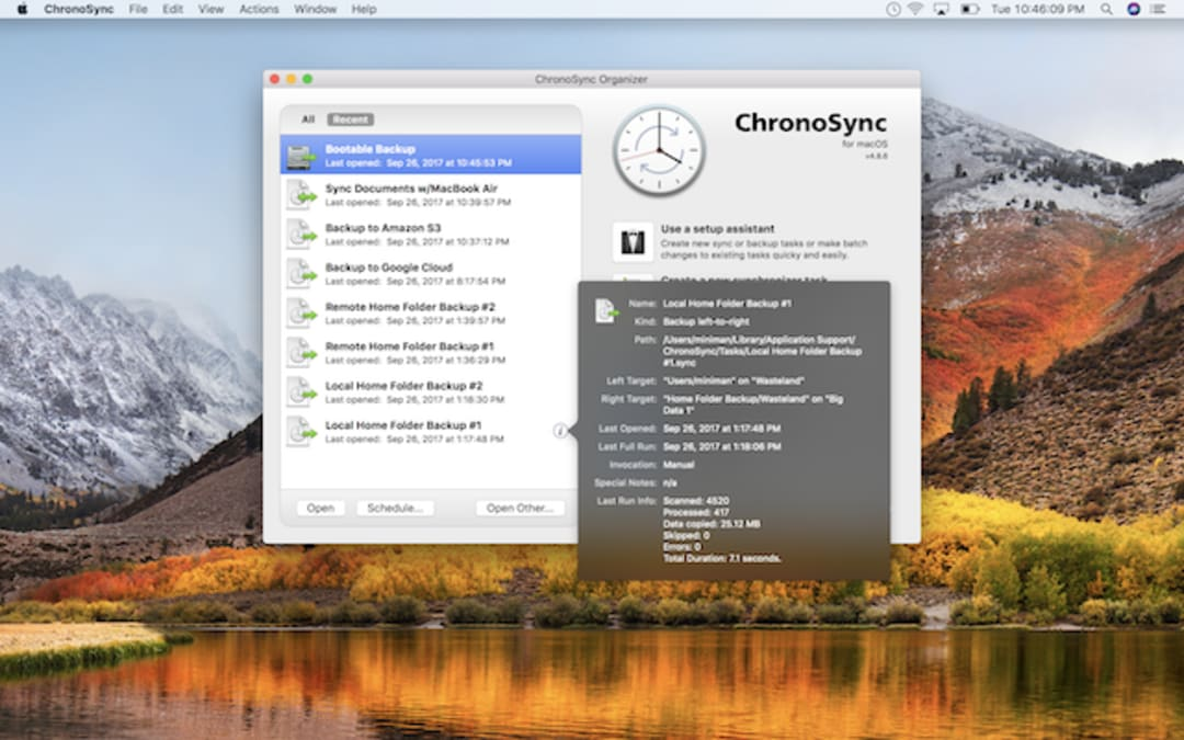 ChronoSync Screenshot