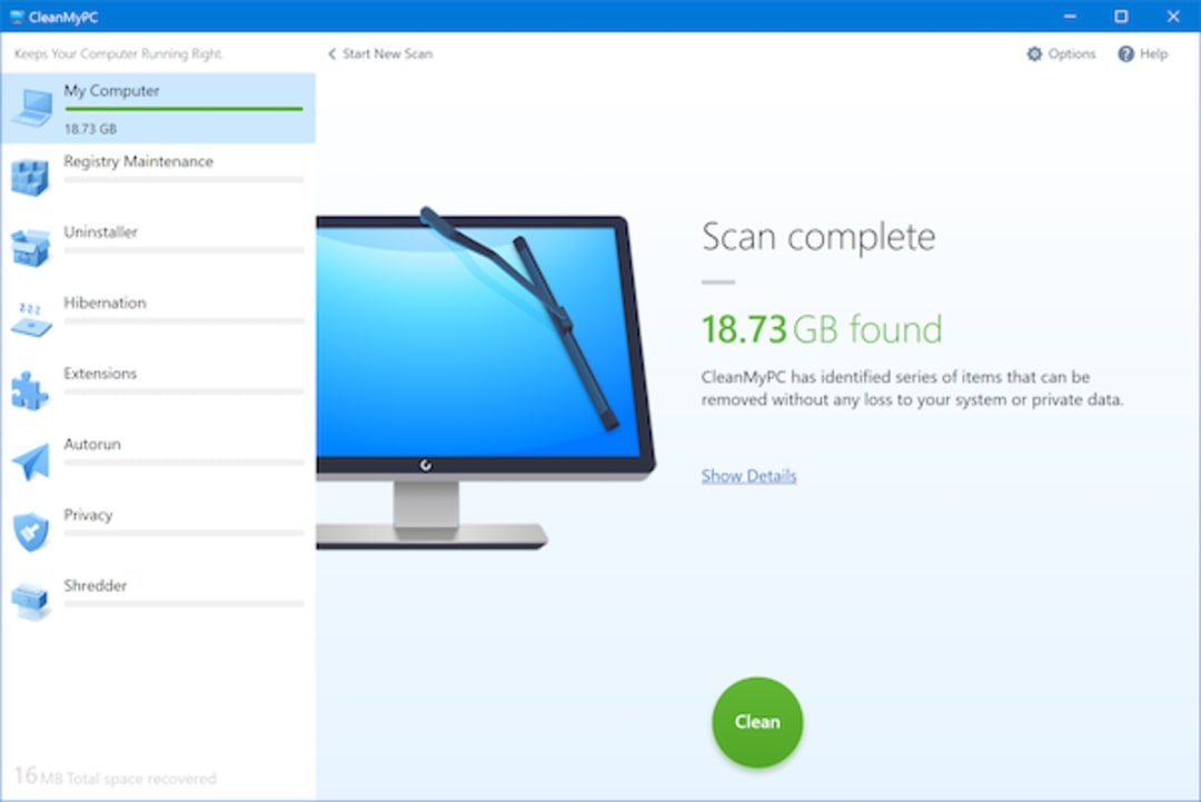 CleanMyPC Screenshot