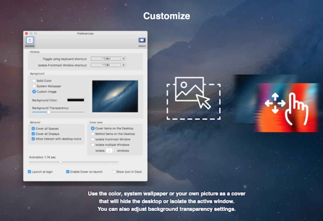 DeskCover Pro Screenshot