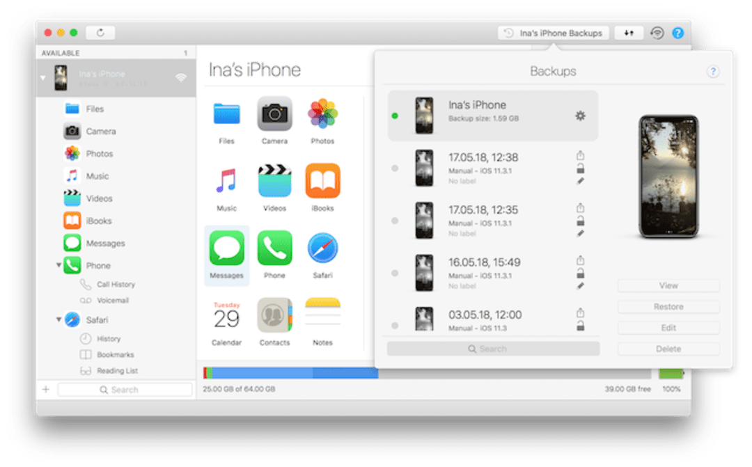 iMazing Screenshot
