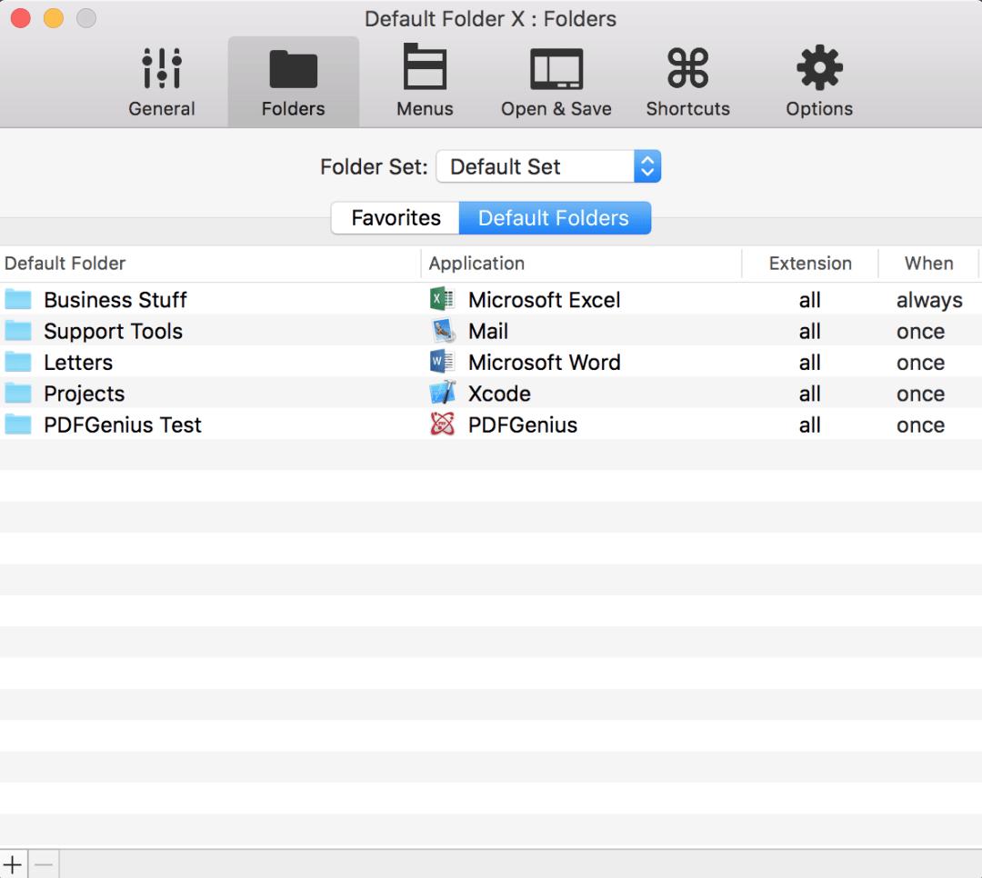 Default Folder X Screenshot