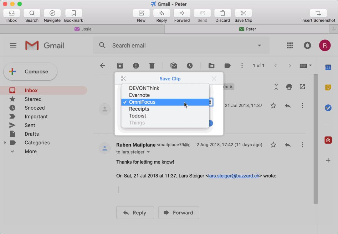 Mailplane Screenshot
