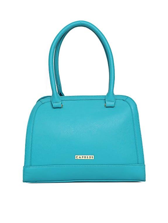 caprese blue solid shoulder bag